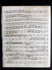 Rees 1820 Antique Print. Music 28 Iteration in Fingering